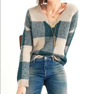 Lucky Brand Buffalo Plaid Pullover Sweater